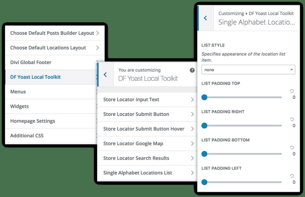 Theme Customizer Yoast Local SEO Toolkit