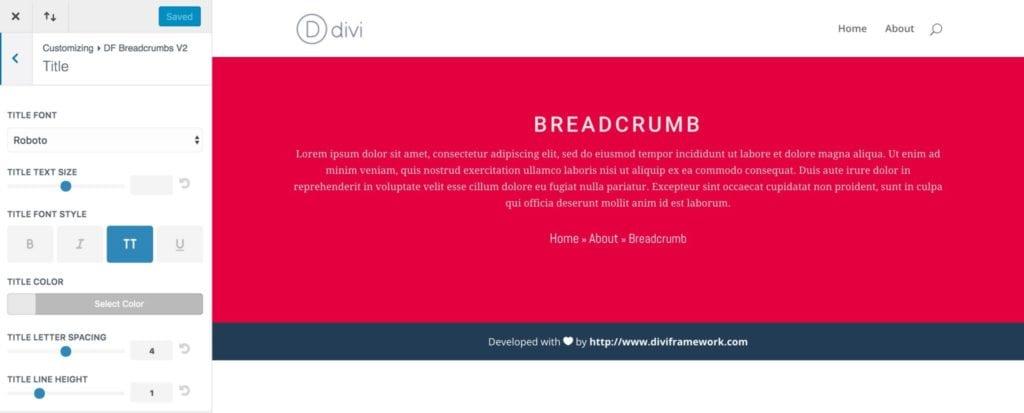 Breadcrumb Title Options