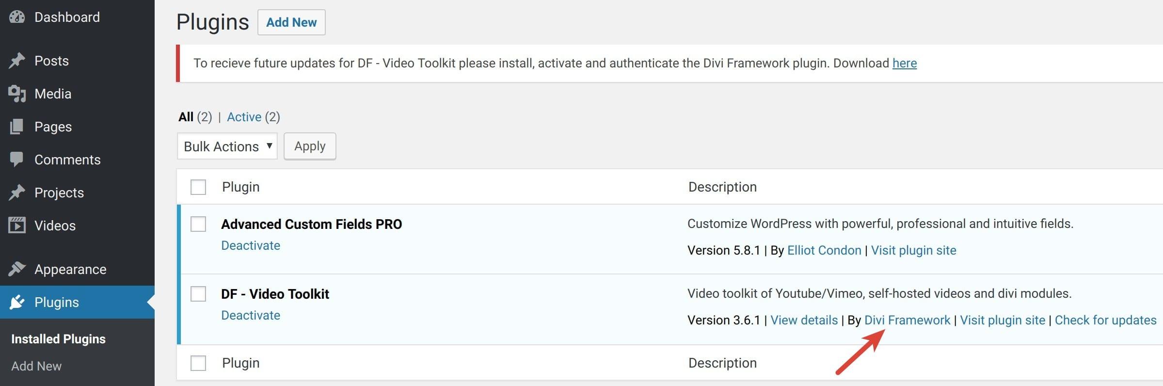 diviframework video toolkit