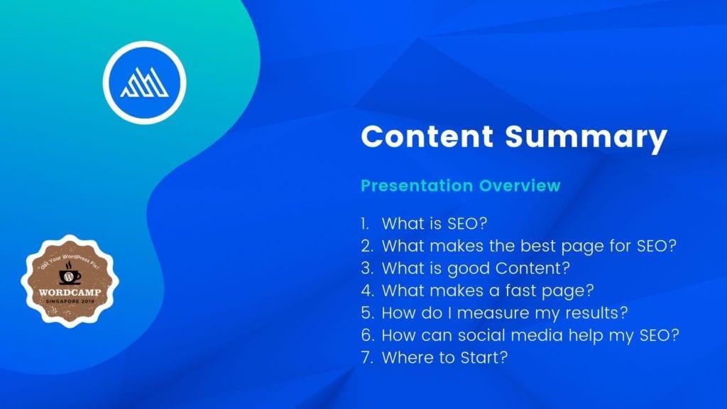 Slide 4 - Content Summary