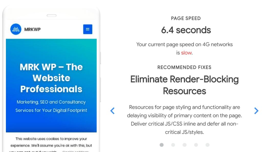 Eliminate Render Blocking Resources.